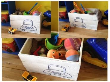 Caja para juguetes (madera reciclada)